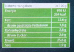 Bio Gourmet Veggie Bratwurst - Informations nutritionnelles - de