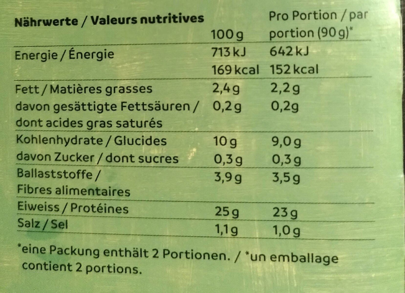 Chunks - Informations nutritionnelles - fr