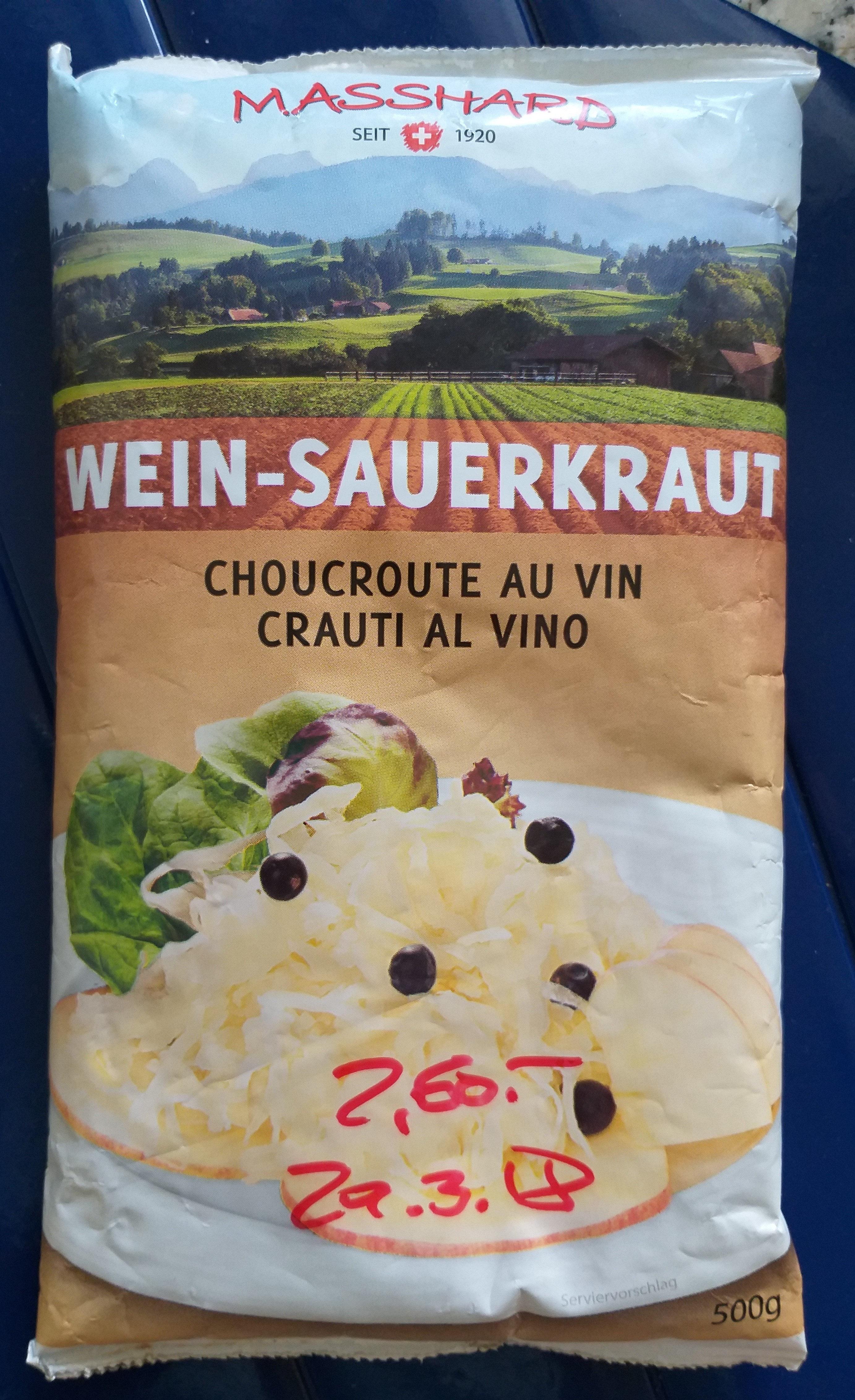 Wein-Sauerkraut / Choucroutte au vin - Product