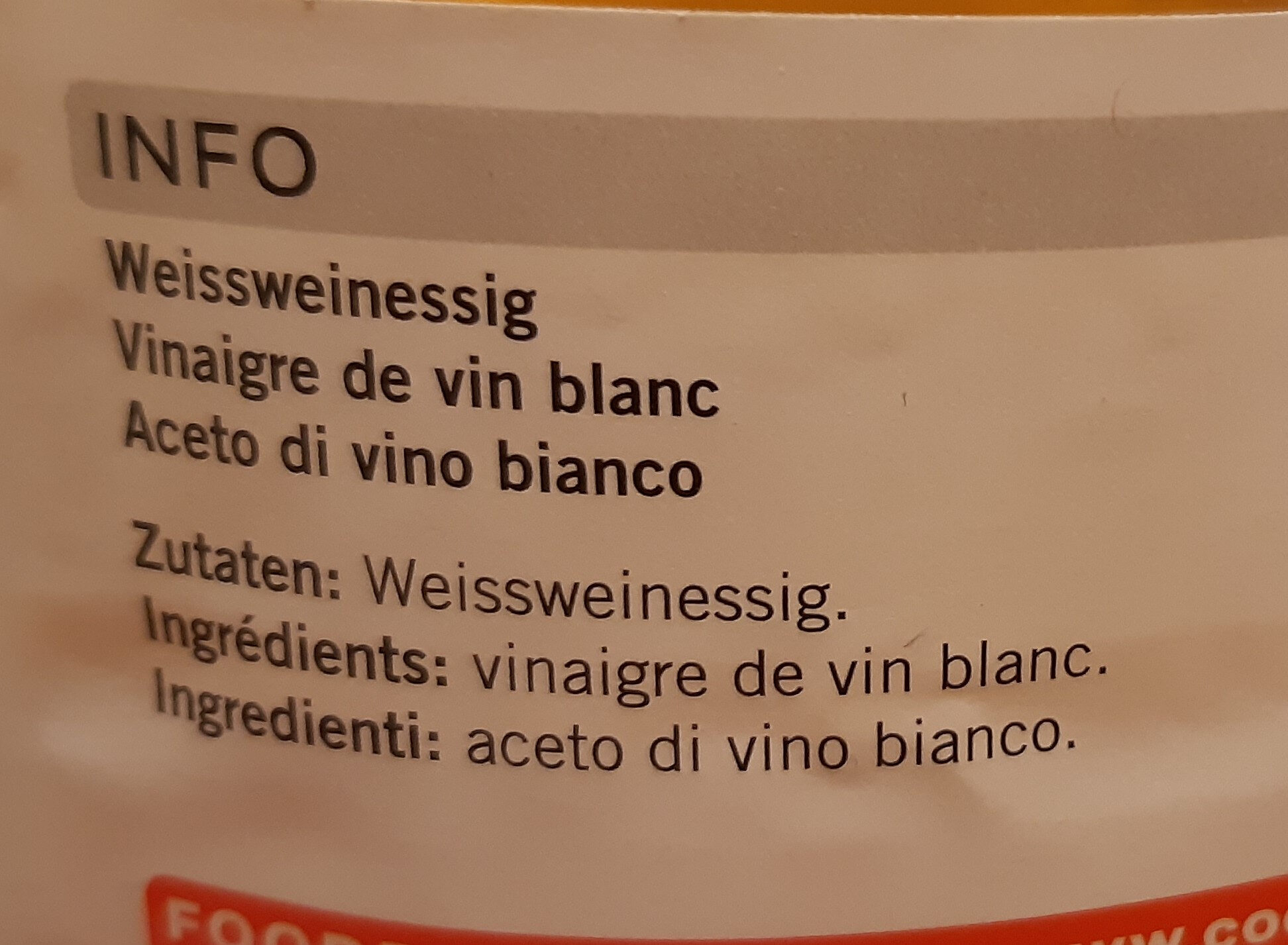 Weisswinessig - Ingredients - de