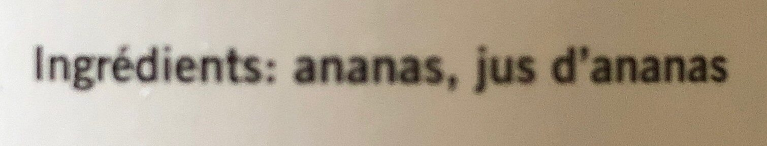 Tranches d'ananas - Ingredienti - fr