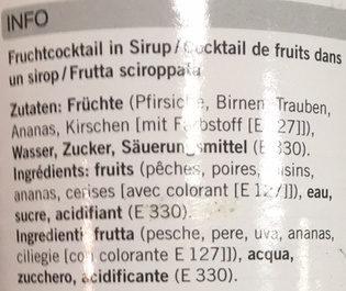 Cocktail de fruits - Ingrédients - fr