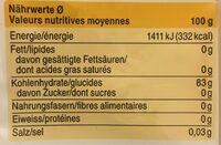Coop Kartoffelstärke - Informations nutritionnelles - fr