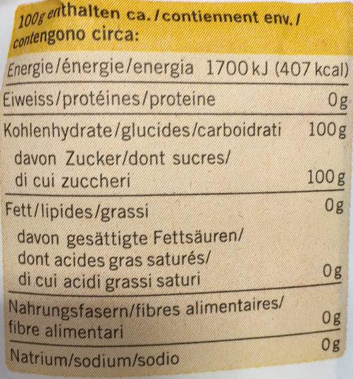Feinkristallzucker - Informations nutritionnelles - fr