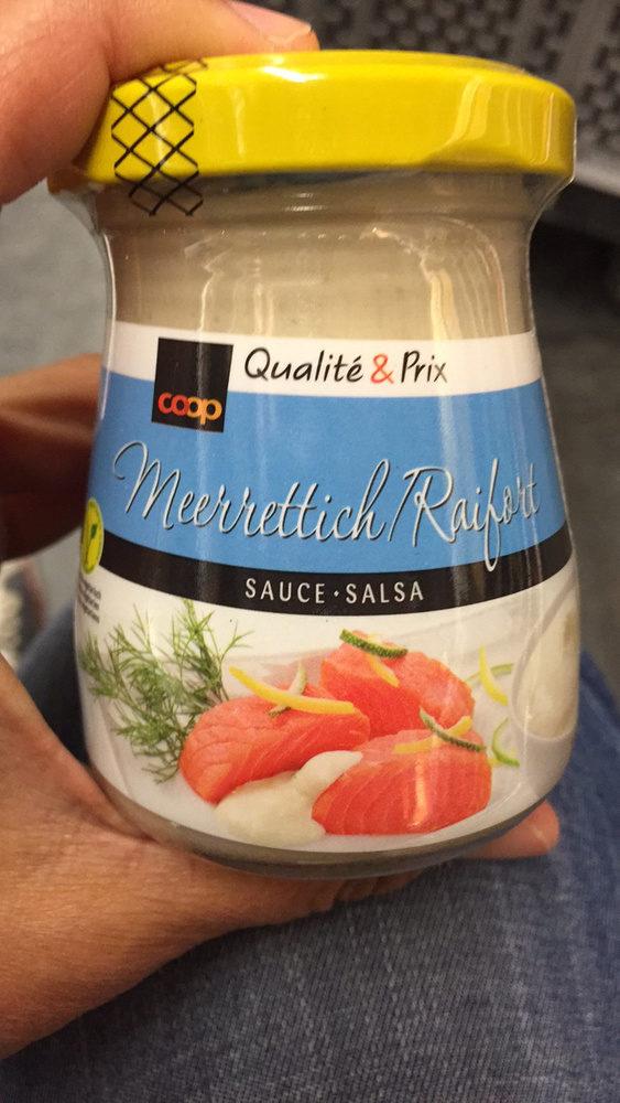 Qualit prix sauce au raifort coop 120 g for Cuisine qualite prix