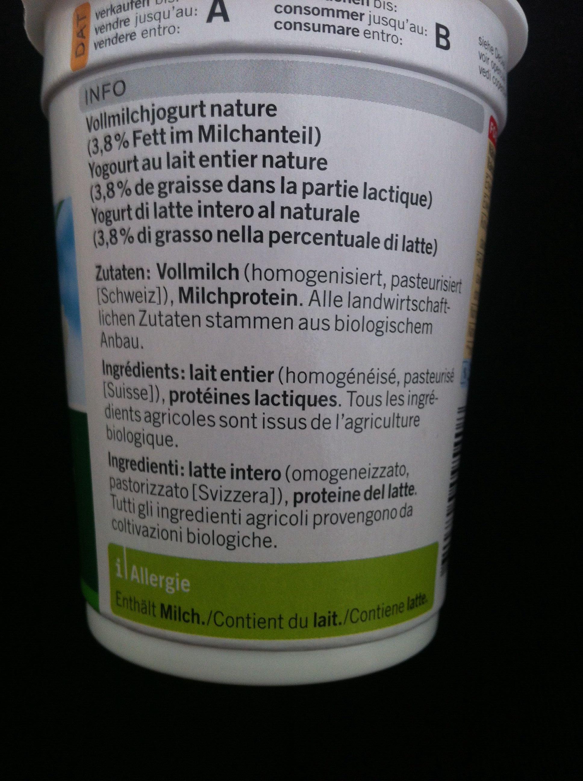 Jogurt al naturale - Ingrediënten