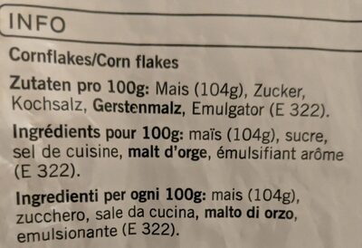 Cornflakes - Ingredients - fr