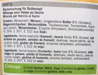 Tresse au beurre - Ingrediënten - fr