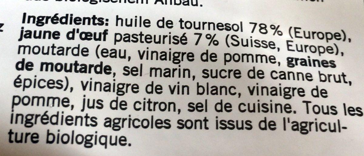 Mayonnaise bio - Ingredienti - fr