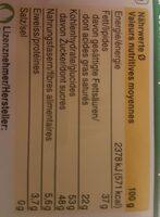 Crémant - Nutrition facts