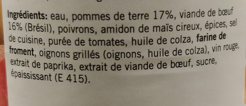 Gulaschsuppe - Ingrediënten