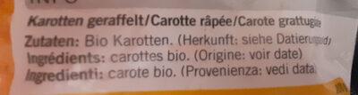 Carottes - Ingrediënten - fr