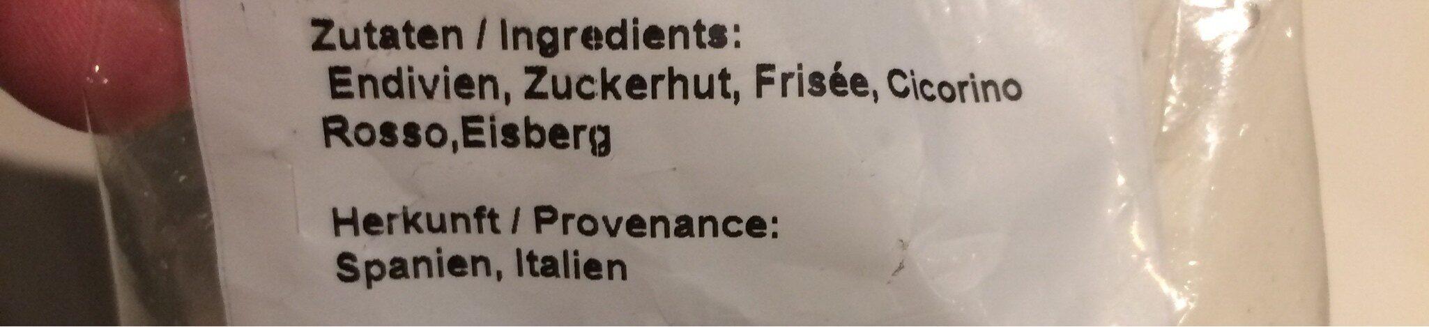 Mélange de salades - Ingredients