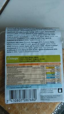 Käsewähe - Ingrediënten - fr
