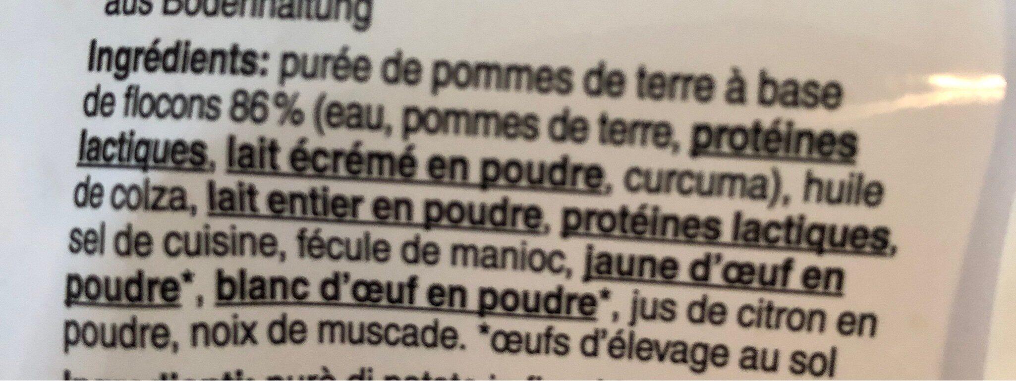 Croquette au four - Ingrédients