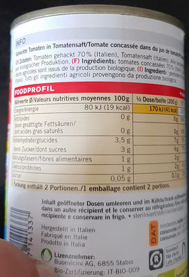 Pomodori triturati - Ingredients - fr