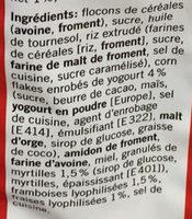 Crunch Muesli - Ingredients - fr