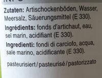 Fonds d'artichaut - Ingrédients - fr