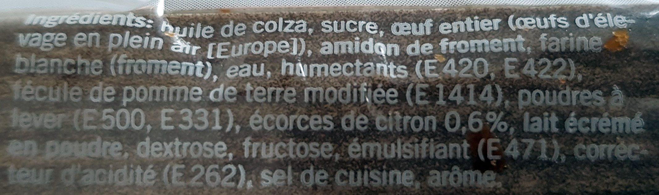 Cake au Citron - Ingrédients