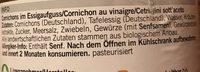 Coop Naturaplan Bio Cornichons - Ingrediënten - fr