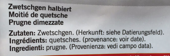 Qualité&Prix : Demi-pruneaux non sucrés - Ingredients - fr