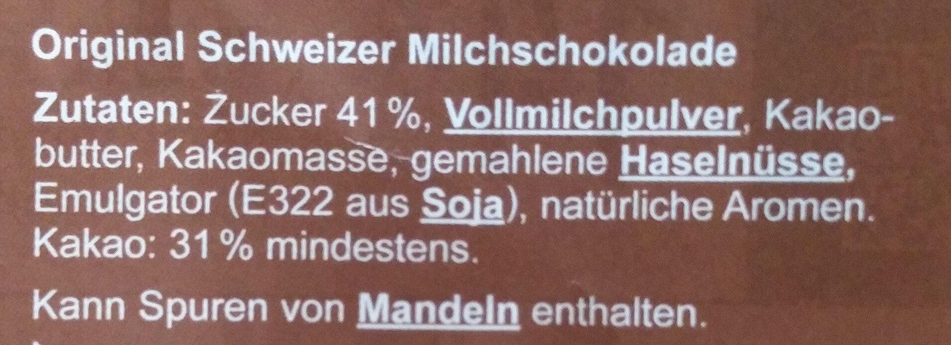 Die Gute Schokolade - Ingredients - de