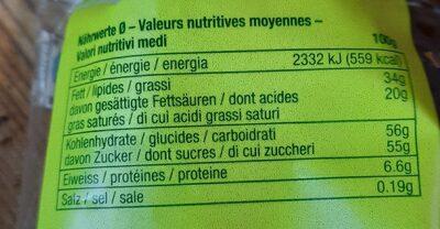 Reto - Voedingswaarden - fr