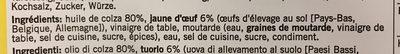 Mayonnaise 80% MG - Ingrédients - fr
