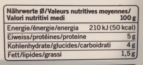 Jogurt nature partiellement écrémé - Valori nutrizionali - fr
