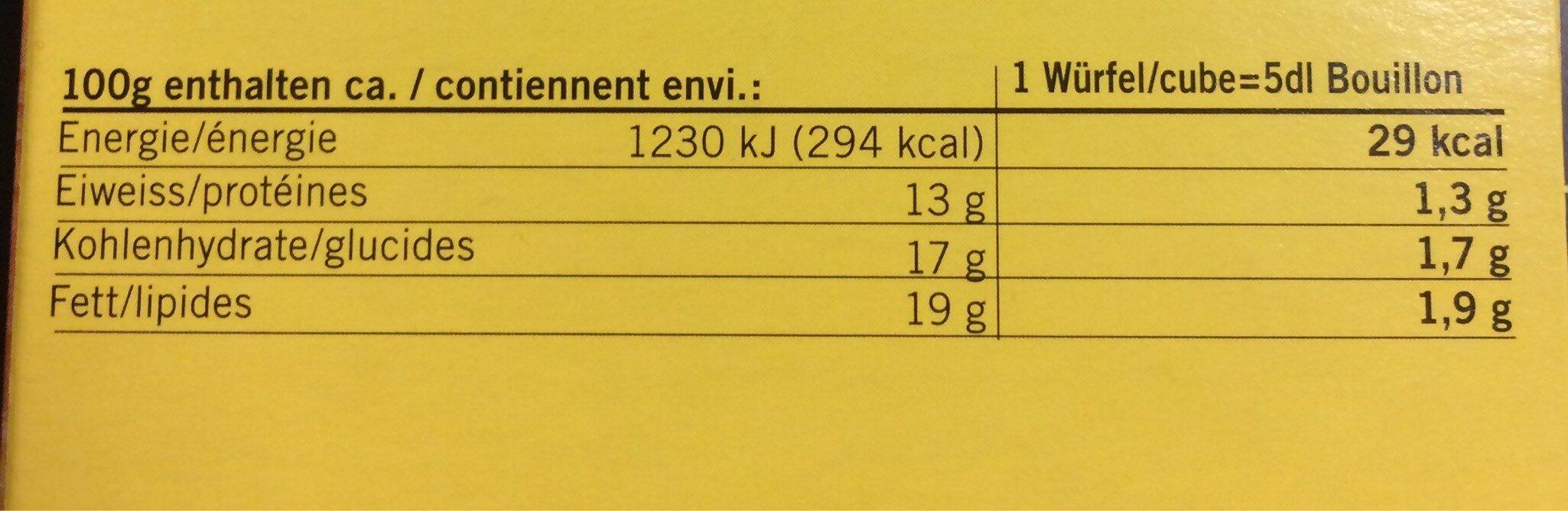 Bouillon brodo - Voedingswaarden - fr