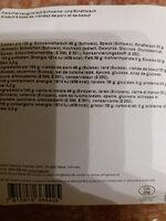 Salami feinkörnig - Informations nutritionnelles - fr