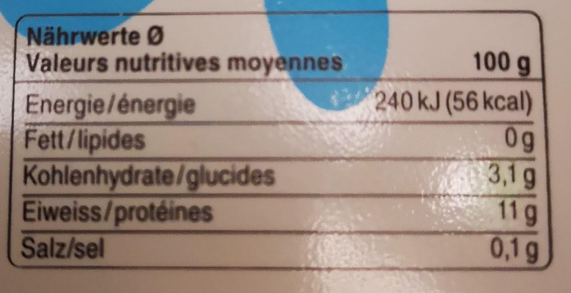 Séré maigre nature - Informations nutritionnelles - fr