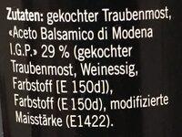 Coop Crema Di Balsamico - Ingredientes - de