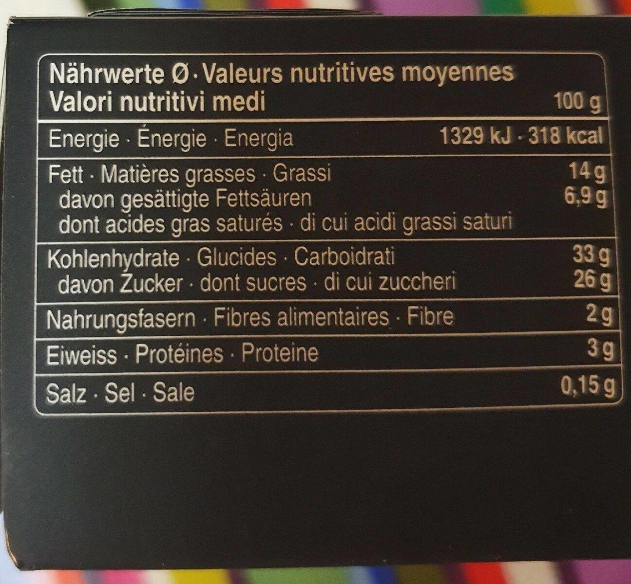 Tourte au Kirch - Valori nutrizionali - fr