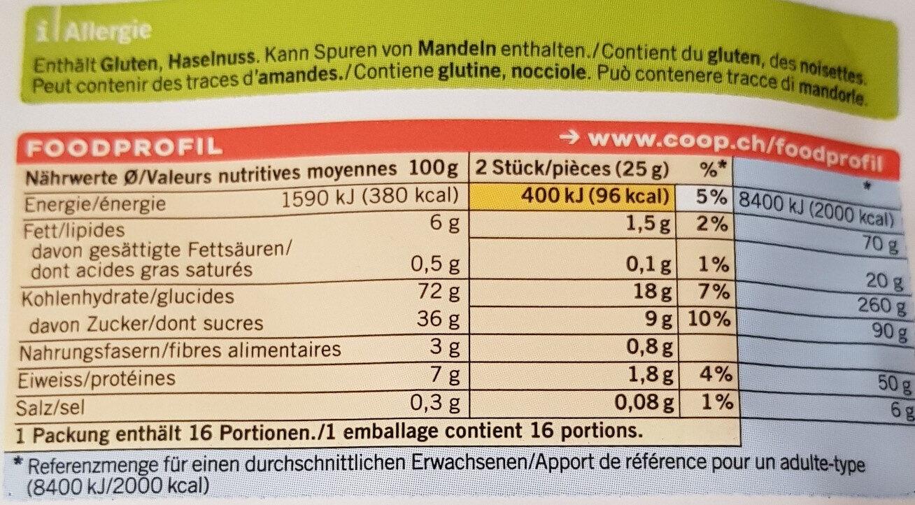 Leckerli - Nutrition facts - fr