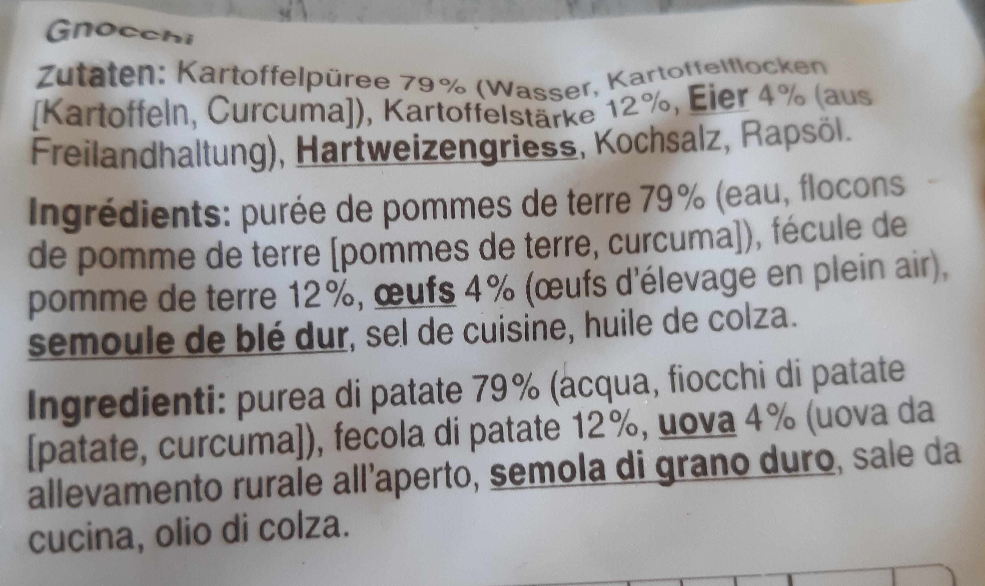 Gnocchi mit Kartoffeln - Ingrédients - fr