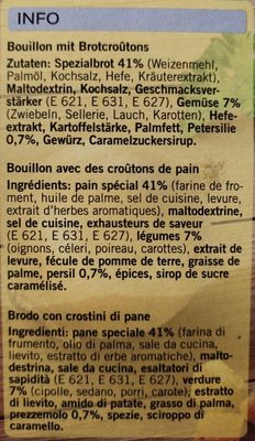 Instant Soup Croûtons Qualité & Prix - Ingredienti - fr