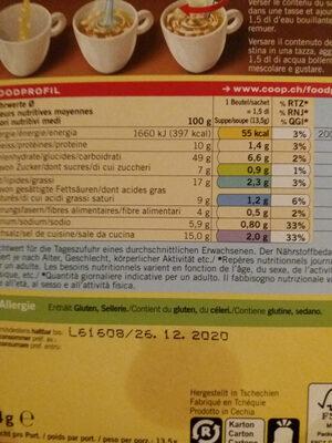 Instant Soup Croûtons Qualité & Prix - Valori nutrizionali - fr
