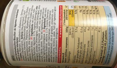 Bouillon de légumes bio - Ingredients - fr