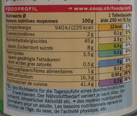 Bouillon de légumes bio - Nutrition facts - fr