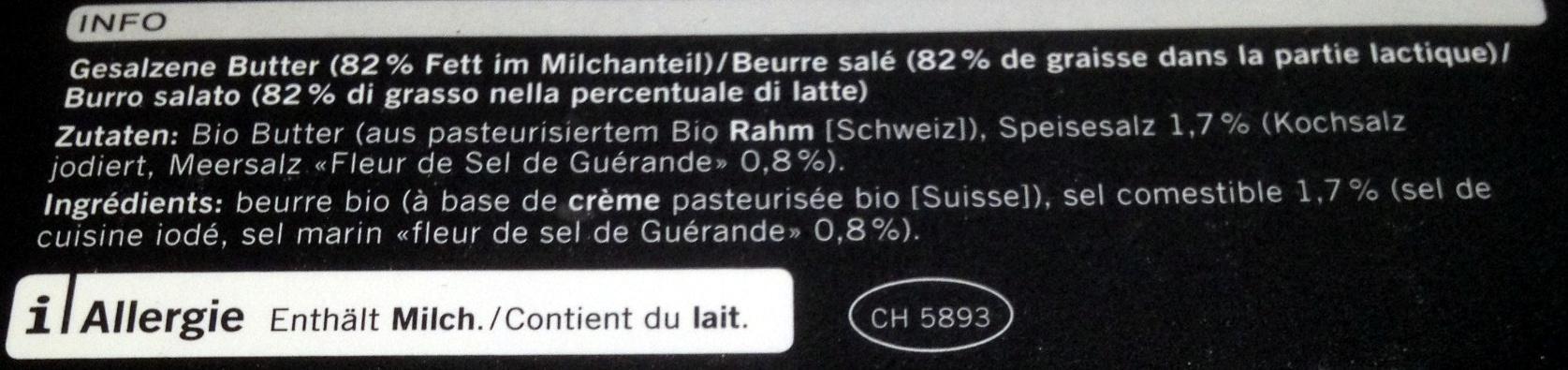 Beurre à la fleur de sel de Guérande - Ingredienti - fr