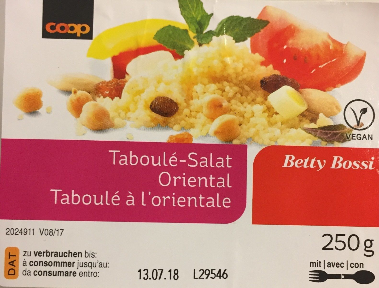Coop Betty Bossi Taboule Salat Oriental 250 G