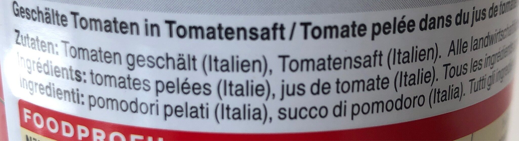 Pomodori Pelati - Ingredients - fr