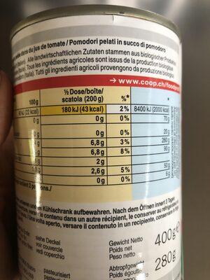Pomodori Pelati - Nutrition facts - fr
