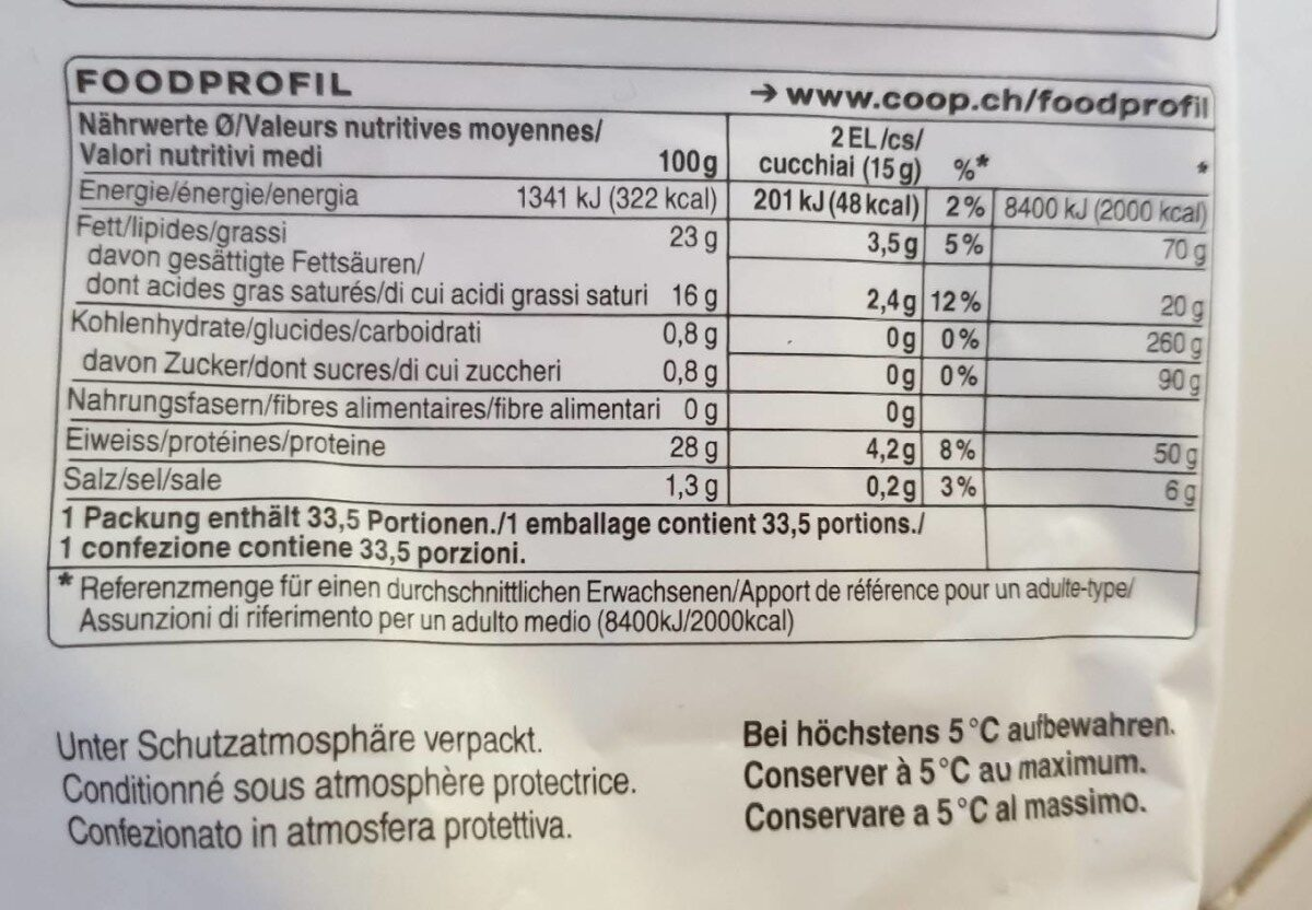 Gratin & Pizza Mix - Nutrition facts