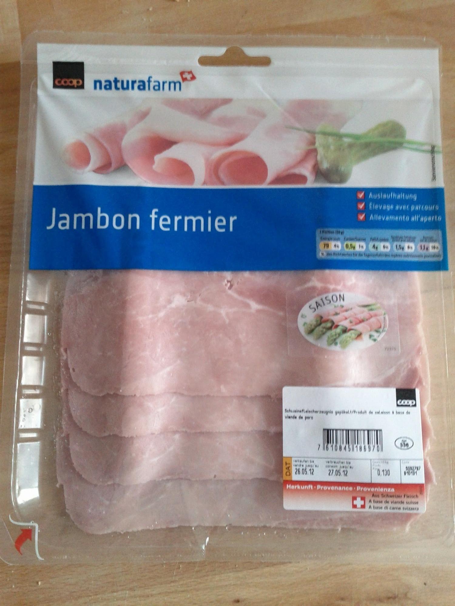 Jambon fermier - Produit - fr