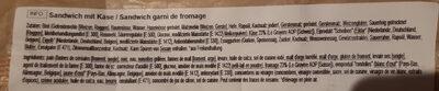 Nussbrot le gruyere AOP pain aux noix - Ingrédients - fr