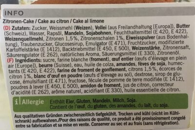 Zitronen Cake - Ingrediënten