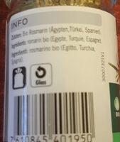 Rosmarino - Ingrediënten - fr