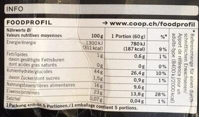 Lentilles Vertes du Puy AOP - Valori nutrizionali - fr